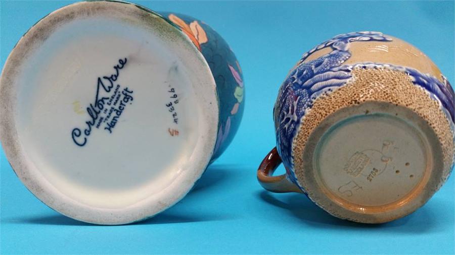 Lot 21 - A Carlton Ware leaf pattern vase, a Thomas Foreste