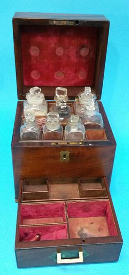 Lot 35 - A 19th century mahogany travelling Apothecary's ch
