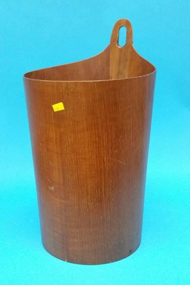 Lot 37 - A Norwegian teak waste-paper bin by P.S. Heggen. 4