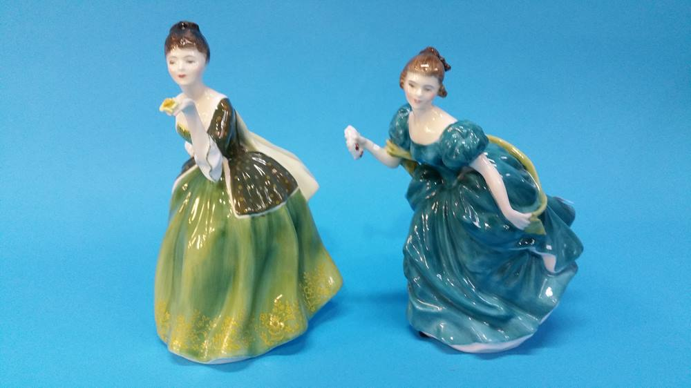 Lot 55 - Two Royal Doulton ladies.