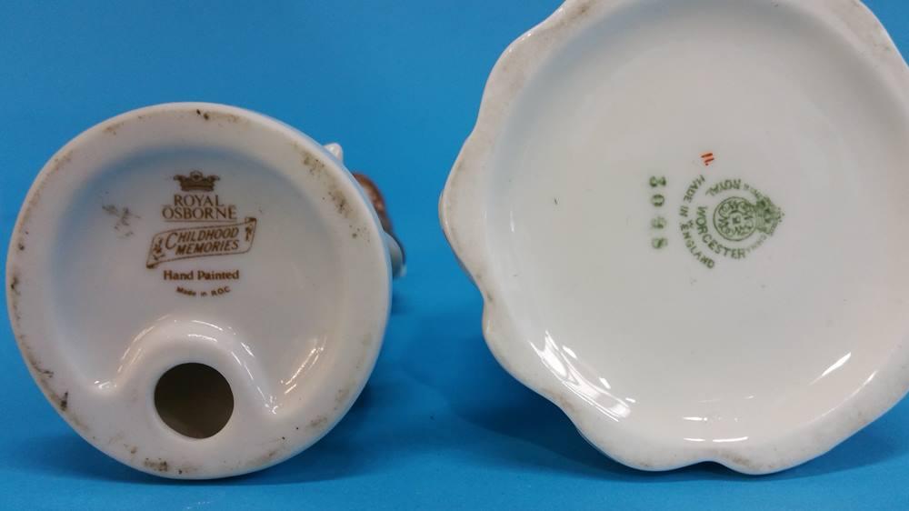 Lot 32 - A Belleek vase, green marks etc.