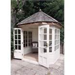 """Summer House A good quality 7 ft 7"""" x 7ft 7"""" hexagonal summerhouse,"""