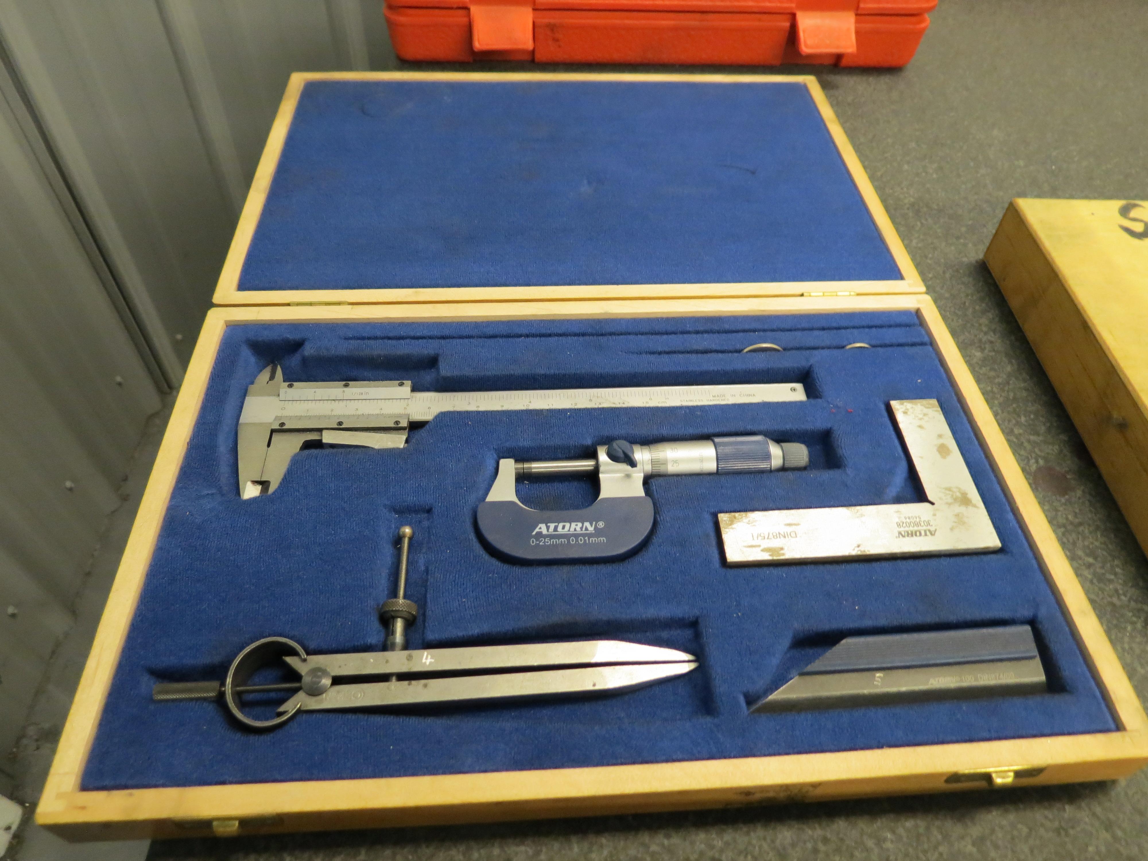 Lot 2 - Atorn Micrometer & Caliper Set