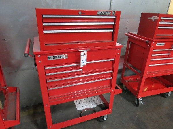 Lot 32 - Waterloo And General 8 Drawer Toolbox Top And Bottom