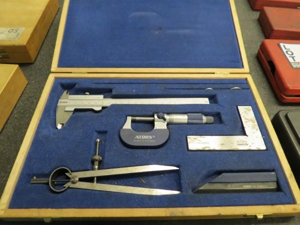 Lot 4 - Atorn Micrometer & Caliper Set
