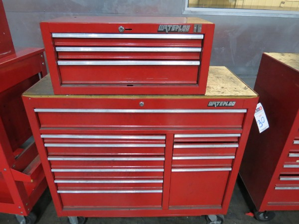 Lot 30 - Waterloo 14 Drawer Toolbox top And Bottom