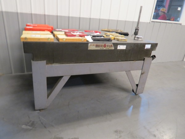 "Lot 25 - 72"" X 48"" X 10"" Surface Plate with Metal Stand *Surface Plate and Stand Only*"