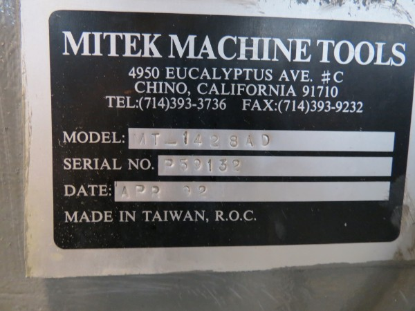 "Lot 35 - 14"" x 28"" Mitek MT-1428AD Automatic Surface Grinder"