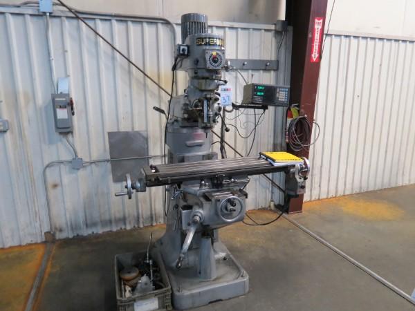 Lot 37 - Supermax YCI 1-1/2VS Vertical Mill s/n 90720351