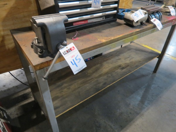 "Lot 45 - Metal Bench with 6"" Wilton Bench Vise"