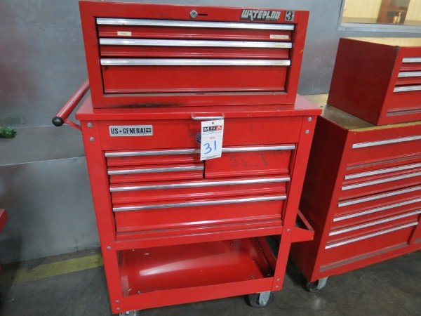 Lot 31 - Waterloo And General 8 Drawer Toolbox Top And Bottom