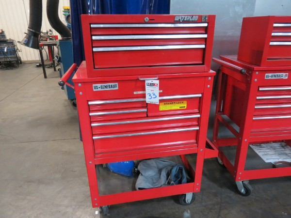 Lot 33 - Waterloo And General 8 Drawer Toolbox Top And Bottom