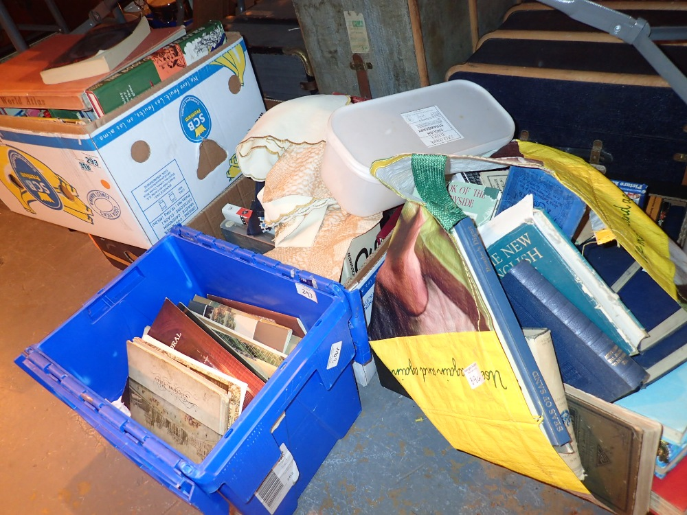 Lot 394 - Five boxes of books various titles