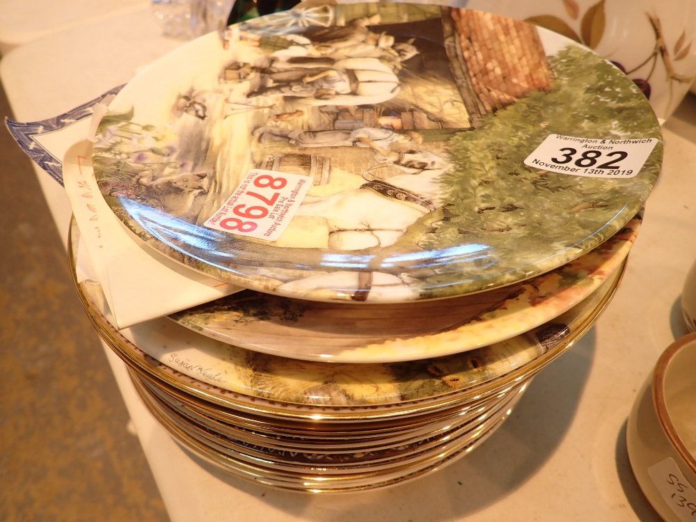 Lot 382 - Quantity of collectors plates mostly wit