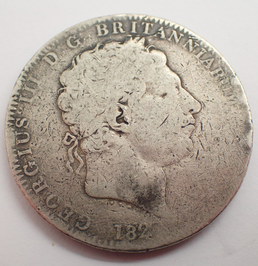 Lot 1426 - George III 1822 crown ( very rubbed )