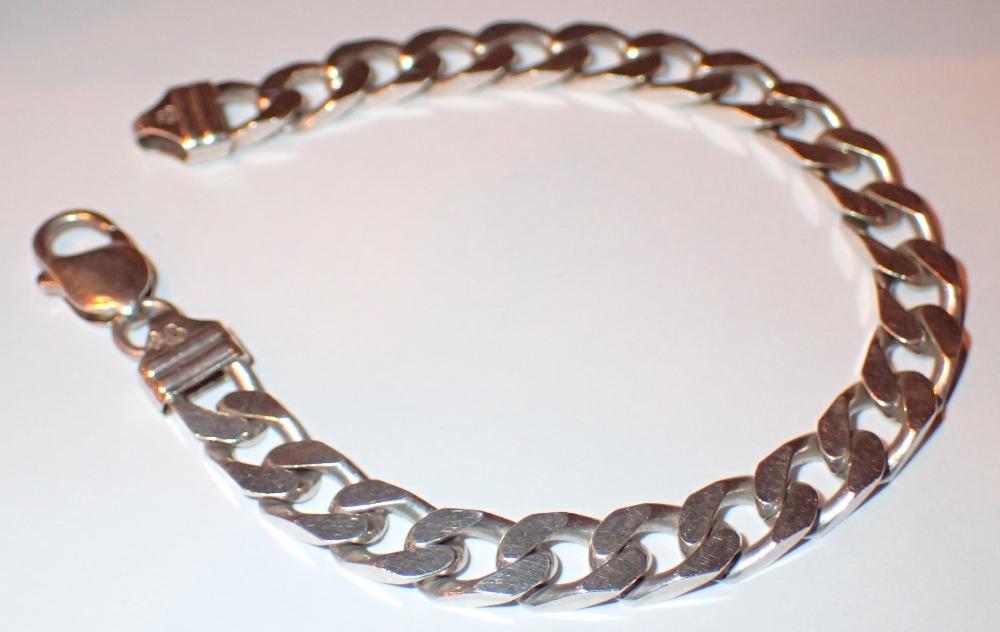 Boxed 925 silver gents bracelet L: 20 cm