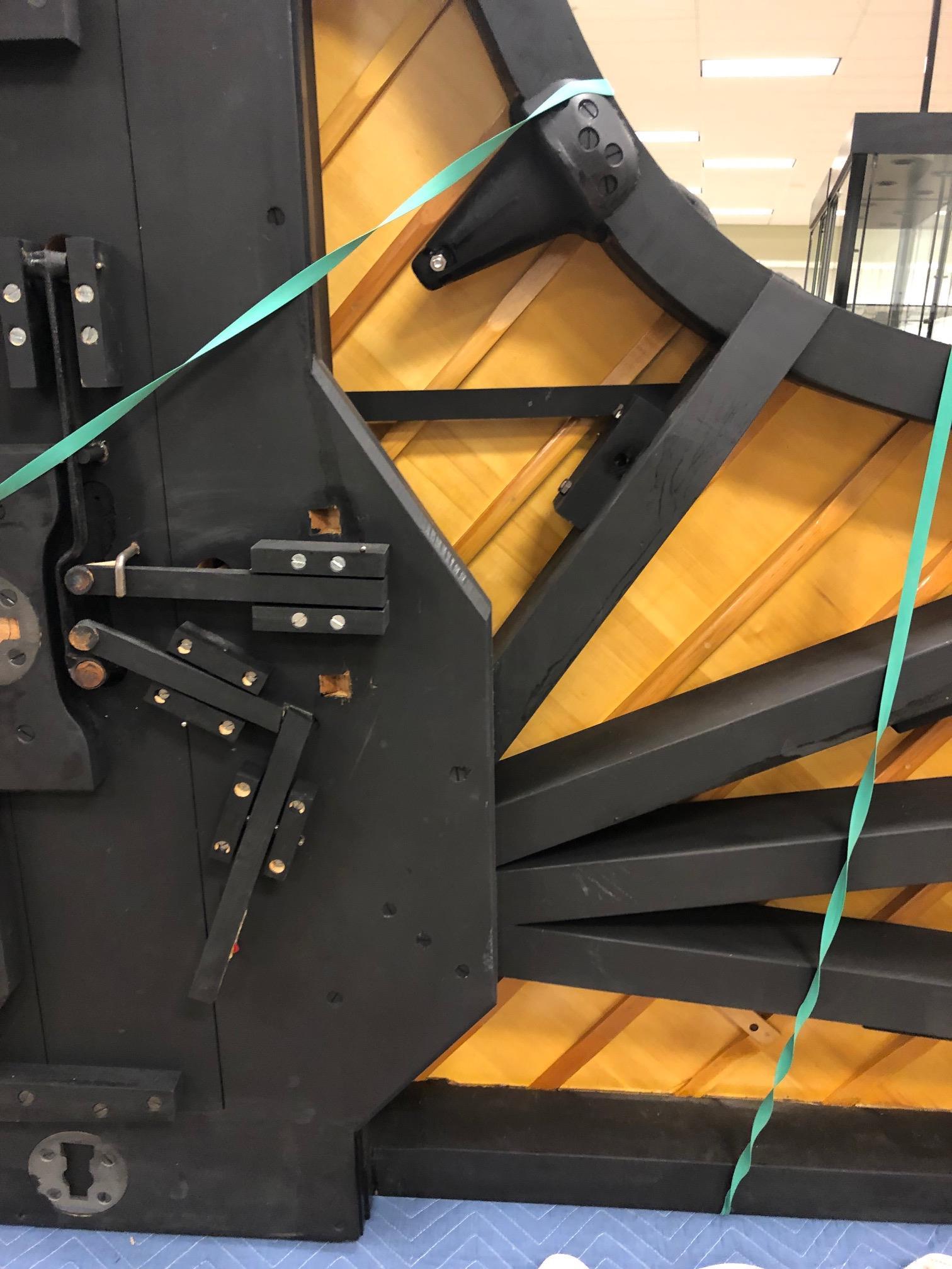 "Lot 216 - Steinway Ebony Model B. Ebony veneer. Serial No: 492840 L 83"" W 58"". Online bidding available:"