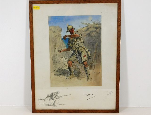 Lot 26 - A framed hand signed in pencil Snaffles print with