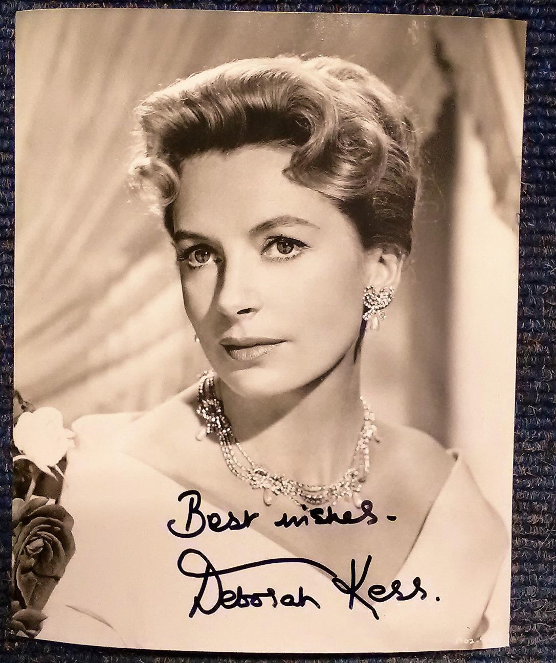 0636881b44243 Deborah Kerr signed 10 x 8 b/w portrait photo. Good Condition. All ...