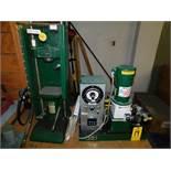Carver Model C Laboratory Press, s/n 32000-530, with Carver Model 2822 Hydraulic Power Unit, s/n