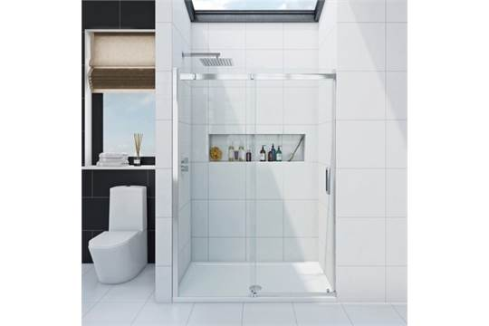 1400 sliding shower door in banded box for 1400 shower door