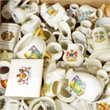 Quantity of W H Goss crested ware and other crested ware (one box)