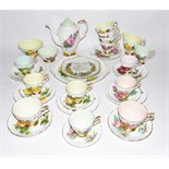 Paragon part china tea service and coffee service Harry Wheatcroft, c.