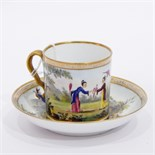 18th century Spode porcelain coffee can and saucer,