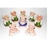 Eight Wade 'Nat West' pigs