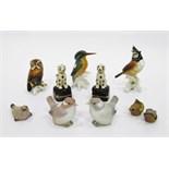 Pair of Lladro model birds,