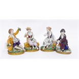 """Set of four Sitzendorf figures """"Allegorical of the Four Seasons"""", 12.5cm high approx."""