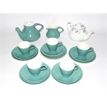 Poole pottery part tea service with green ground, a Gainsborough china teapot,