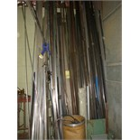 LOT OF STEEL & ALUMINUM  (located along wall)