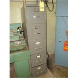 STEEL FILE CABINET, 5-drawer, w/assorted supplies