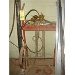 TORCH CART, w/gauges, hose & torch  (tanks not included)
