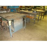 LOT CONSISTING OF assorted TABLES (2) & CART