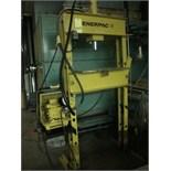 H-FRAME SHOP PRESS, ENERPAC 25 T. CAP., elec. driven hyd. unit