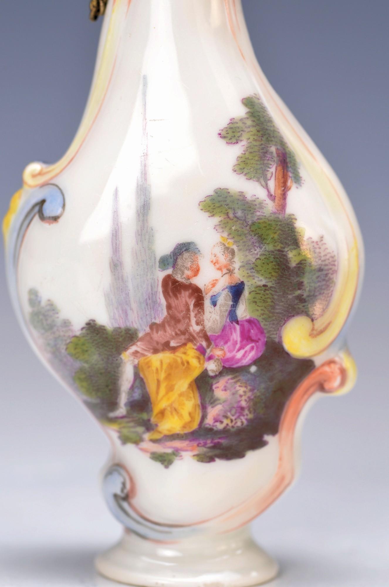perfume bottle, Meissen, around 1730-35, Modelof JJ. Kaendler, porcelain with orig. gilt mounting, - Bild 2 aus 2