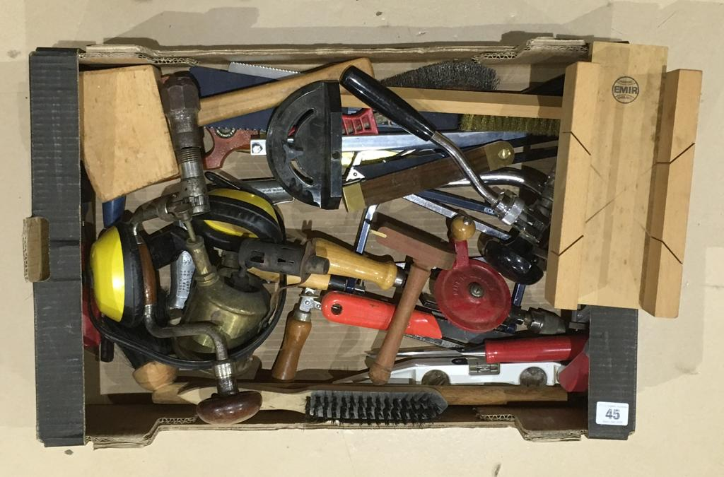 Lot 45 - A box of tools G