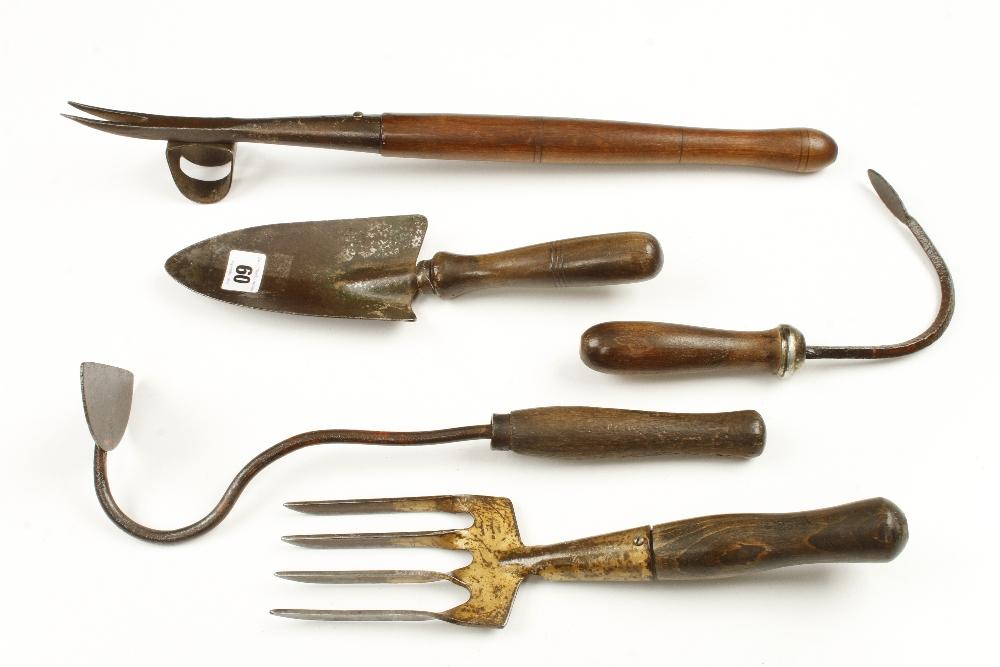 Lot 60 - Five vintage tools G
