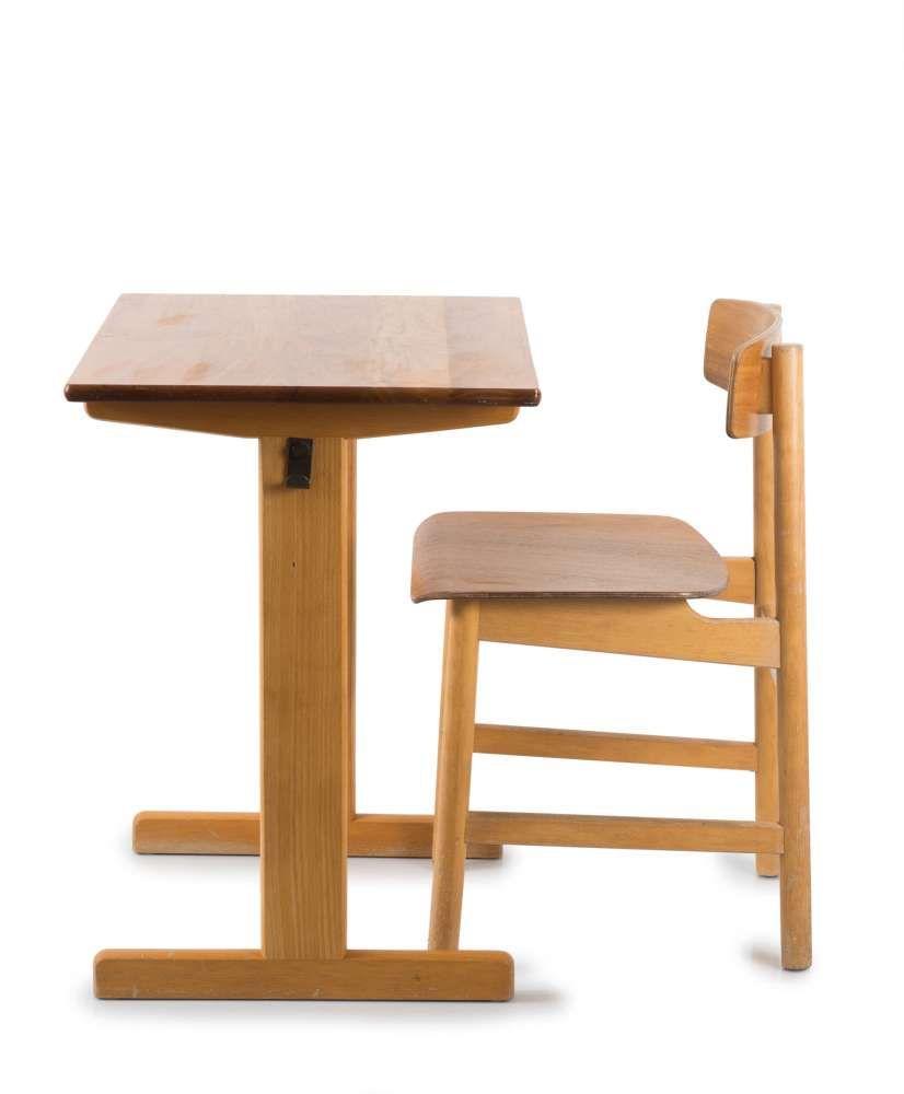 Schultisch  Munch Moebler A/S, Daenemark Mogensen, Boerge Schultisch und Stuhl ...
