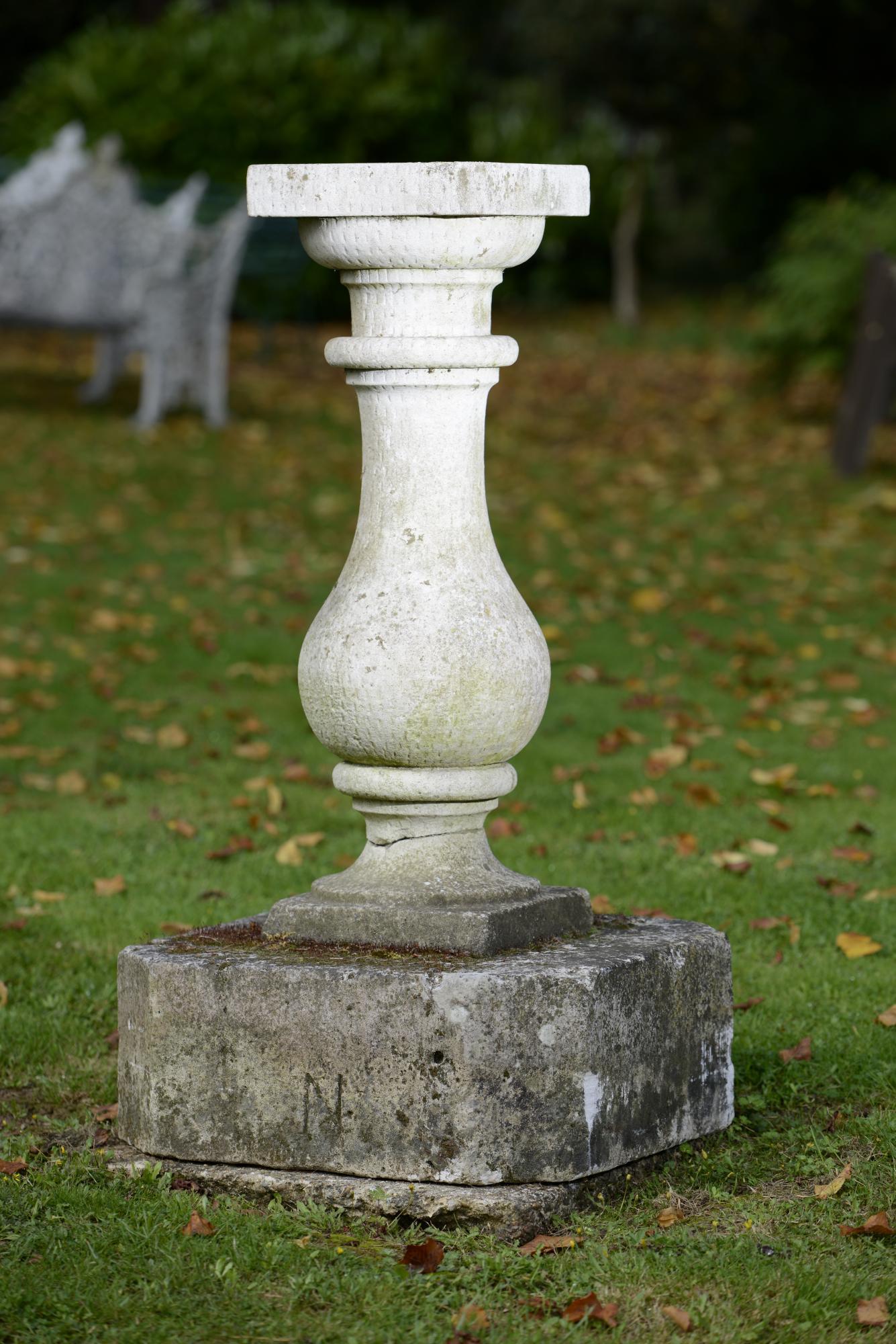 a on century late sundial stone coade iii george pin bronze pedestal