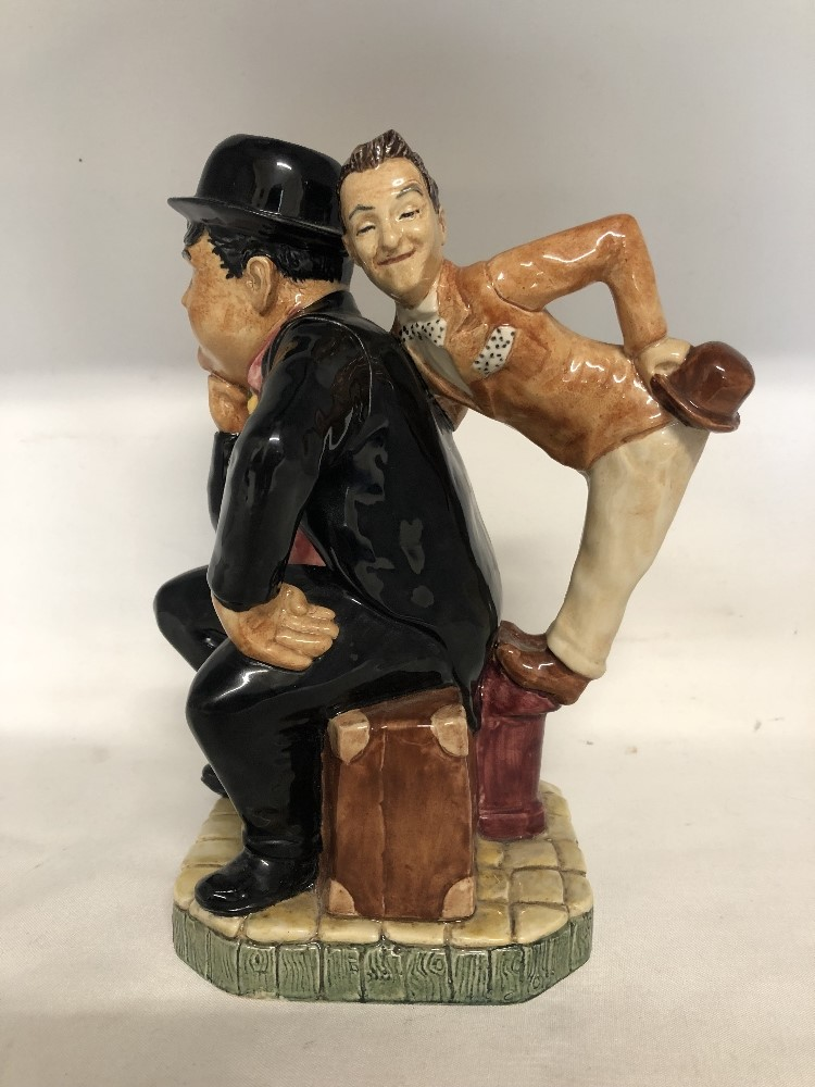Lot 37 - A toby jug depicting Laurel and Hardy by Kevin Francis Ltd Edition No 28.