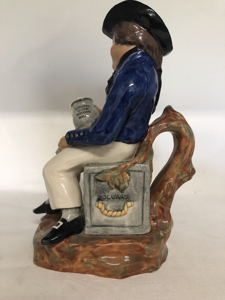 Lot 51 - The American Sailor toby jug (from The Replica Collection) by Kevin Francis No76 of 250 made.