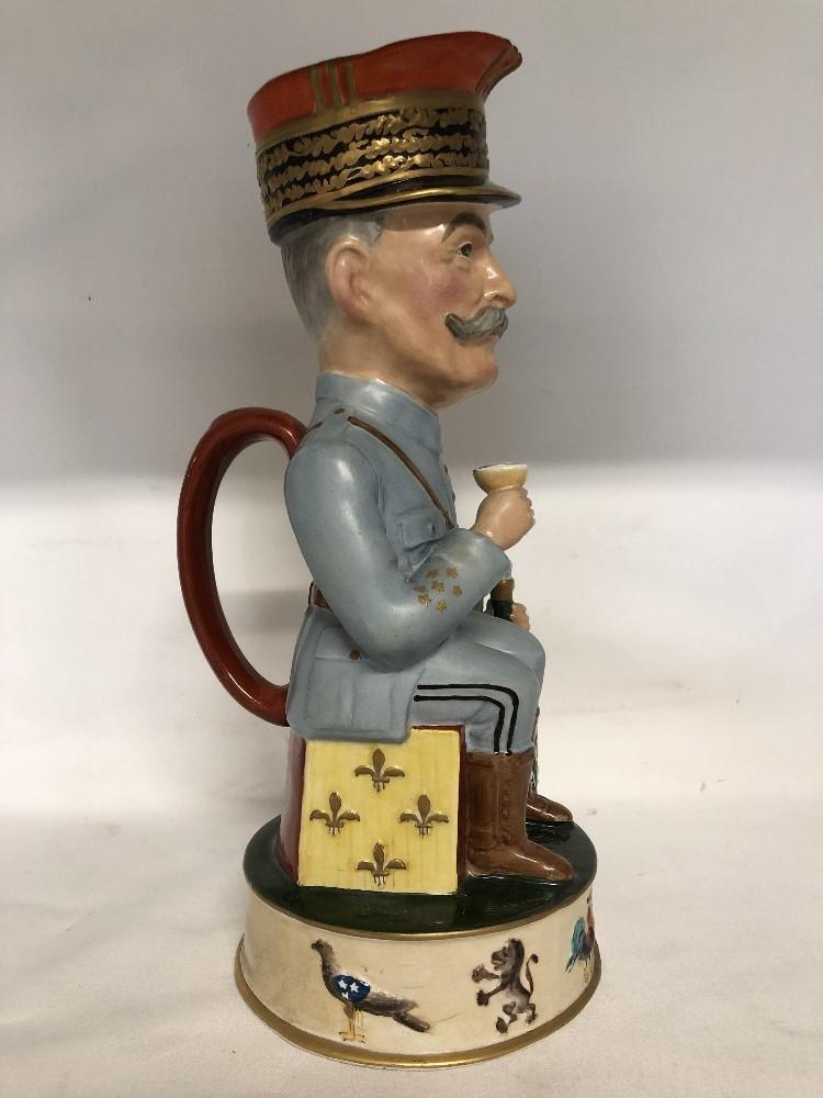 Lot 35 - A toby jug depicting Marshall Josh (Av Diable Le Kaiser).