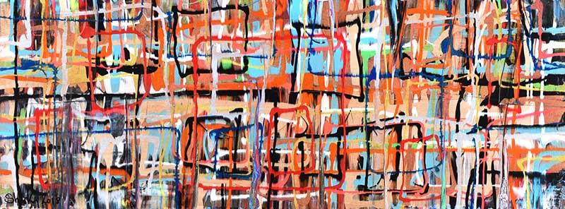 Lot 32 - Kevin Sharkey - HAZE - Oil on Board - 18 x 48 inches - Signed