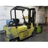 "Hyster S50XL LPG Forklift, s/n A187V09417J, 5450 Lb., 187"" Lift, 7292 Hrs., Roll Clamp"