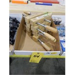 Lot 54 - WOOD CLAMPS 4 PCS 10""