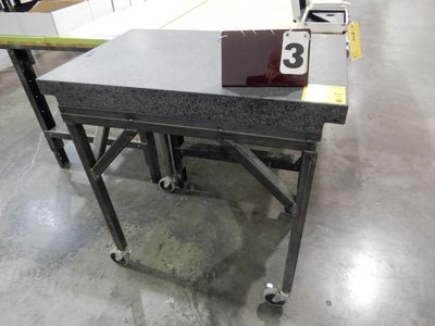 "Lot 3 - GRANITE SURFACE PLATE, 24"" X 36"" W/ STAND"
