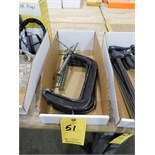 "Lot 51 - HUSKY 8"" C-CLAMPS 3 PCS"